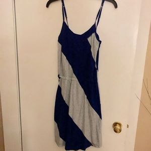 Blue and Gray Dress.